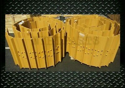 Track Groups Lubricated 41l Chains W 22 Pads For Cat D5n Xl