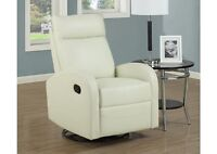 Liquidation reclining ivory color chairs