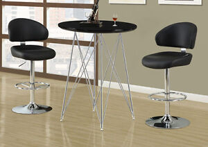 LARGE SEAT BARSTOOL IN BLACK OR WHITE LEATHER HYDRAULIC SUPPORT