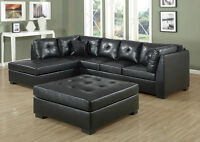 CLEARANCE NEW LEATHER SECTIONALS