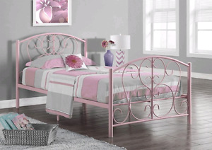 Single bed frame with new mattress