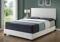 New! LEATHER-LOOK QUEEN SIZE BED