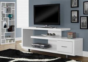 "$209 - WHITE HOLLOW-CORE 60""L TV CONSOLE"
