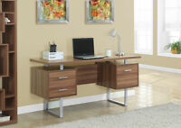 NEW 2015 COLLECTION DESK IN NATUREL OR DARK BROWN SOLID WOOD