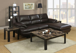 LORD SELKIRK FURNITURE- 3PC Faux Marble Square Coffee Table Set