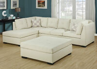 849$ **  IVORY SOFA BONDED LEATHER === FREE DELIVERY