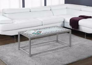 $199 - SILVER COCKTAIL TABLE