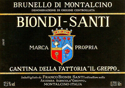 BRUNELLO DI MONTALCINO RISERVA BIONDI SANTI 1982 (750ml) livello spalla alta T/S