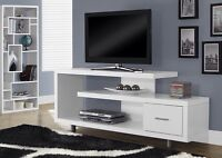 "TV table 60"" in wood 3 colors availables with chrome feet"