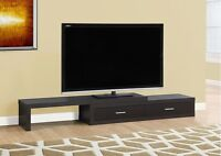 """MEUBLES TV STAND - 60""""L TO 98""""L / EXPANDABLE / CAPPUCCINO"""