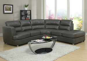 SOFA SECTIONNEL CUIR RECONSTITUE/COMBO