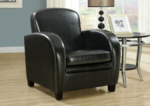ACCENT CHAIR IN BLACK LEATHER LOOK FOR ONLY 169$