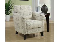 VANTIGE STYLE LINEN FABRIC ACCENT CHAIR FOR ONLY 199$