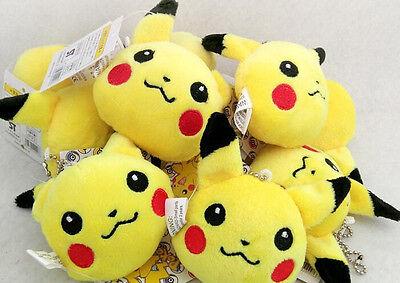 10pcs Pikachu Pokemon Plush TOY Charm Strap Lanyard Bag Chain Pendant Charms 8CM