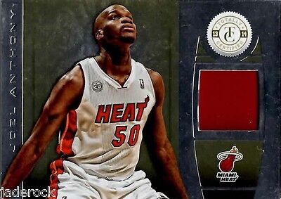 Joel Anthony 2013-14 Panini Totally Certified Gold Game Used Jersey Patch 11/25 - $8.50