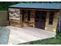 Summerhouse Outhouse Bespoke Builds. Hanmade at location. Custom Outhouse/Workshop/Studio Space.