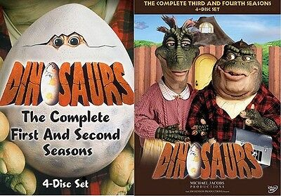 Dinosaurs Complete Tv Series Seasons 1 4 1 2 3 4 Box   Dvd Set S  Collection New