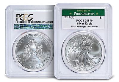Click now to see the BUY IT NOW Price! 2015 P AMERICAN SILVER EAGLE PCGS MS 70 THE ST MINT STATE EAGLE EVER
