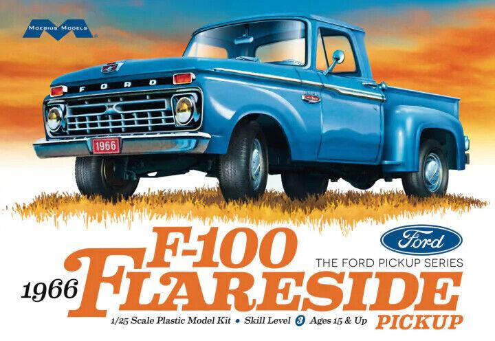 Moebius 1232  1966 Ford F-100 Flareside Pickup Truck plastic model kit 1/25