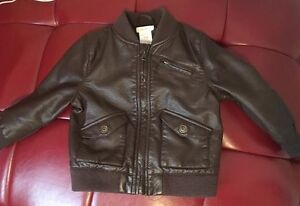 Leather jacket size 18/24 months