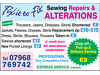 Garment Alterations & Repairs - Sewing Alterations Pudsey, West Yorkshire