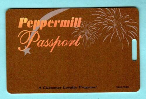 PEPPERMILL RENO Gold Passport Casino Slot Card