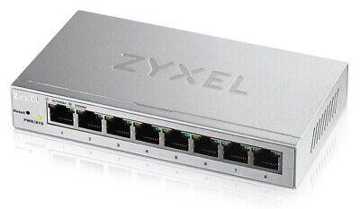 8 Port - Zyxel GS1200-8 Managed Gigabit Ethernet Switch (10/100/1000) Silber
