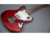 Fender Jaguar Electric Guitar. Crafted in Japan. Candy Apple Red VGC.MIJ. Vintage.Kobain.Sonic Youth