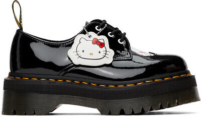 Dr Martens Sizing (DR. MARTENS X HELLO KITTY 1461 WOMEN'S BLACK PLATFORM SHOES [ALL SIZES])