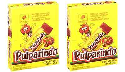 DE LA ROSA PULPARINDO 40ct (2 BOXES), Hot and Salted Tamarind Pulp Mexican Candy](Salt Candy)