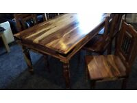 Rustic dining table & 4 chairs
