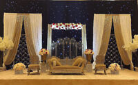** AFFORDABLE INDIAN PAKISTANI WEDDING BACKDROP WINTER SPECIAL**