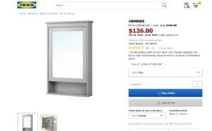IKEA Hemnes Mirror Cabinet Bathroom Storage