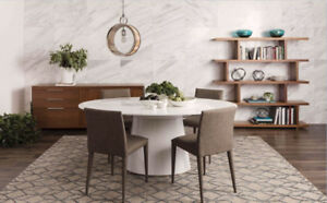 Dining Table White - OTAGO OVAL Moes Home Collection
