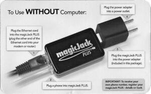 Magic Jack Plus- Brand new with extra phone plugs