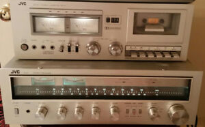 JVC Stereo Receiver R-S7 and tape deck
