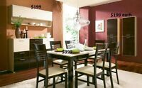 EUROPEAN DINING TABLES & SETS. TABLE START $399, SETS $899