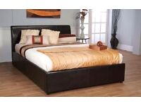 "DOUBLE LEATHER BED AND FREE 9"" MATTRESS NOW ONLY £99"