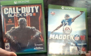 Black Ops 3 (Call of Duty) and Madden 16 - Xbox One
