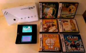 - NINTENDO DSi CONSOLE complete in box  - 6 GAMES / JEUX     ☆☆