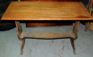 Good Looking Antiques Table 29 inch H 18 inch w 42 inch L Needs