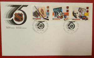 NHL Canada Post Stamps First Day Cover