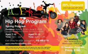 Kids spring hip hop program