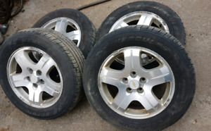215/60/16 All Seasons/GM Alloy Rims