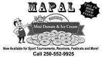 Mapal Mini Donuts & Ice Cream Available for all your Occasions!