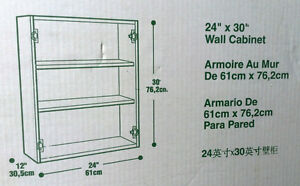 "NEW Mill's Pride Wall Cabinet - W2430 -24"" Wide x 30"" x 12"" Deep Cambridge Kitchener Area image 2"