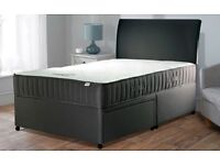 New Full 4ft6 Double Bed Set Base Mattress And Headboard (no draws But Option To Have Draws)