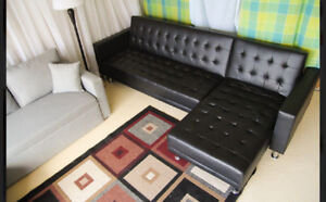 BRAND NEW SECTIONAL SOFA BED. REVERSIBLE CHAISE. $499