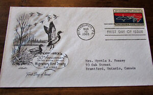 1966 Migratory Bird Treaty 5 Cent First Day Cover