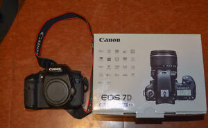 Canon 7D body in excellent condition